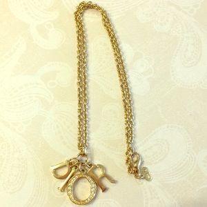 Vintage Dior Logo Letter Necklace